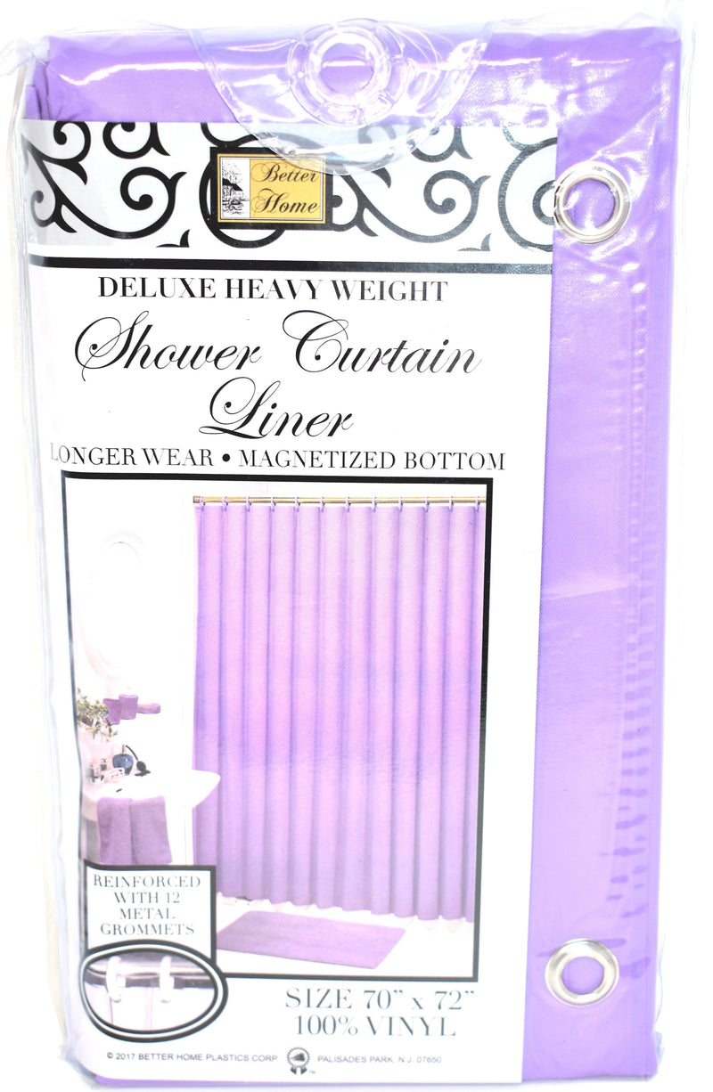 "Deluxe Heavy Weight 100% Vinyl Shower Curtain Liner 70"" x 72"", Lilac Color"