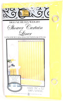 "Deluxe Heavy Weight 100% Vinyl Shower Curtain Liner 70"" x 72"", Yellow Color"