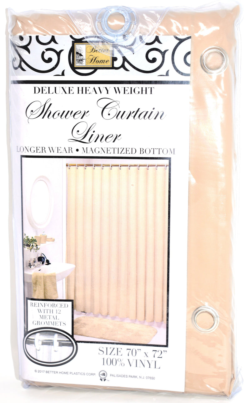 "Deluxe Heavy Weight 100% Vinyl Shower Curtain Liner 70"" x 72"", Taupe Color"