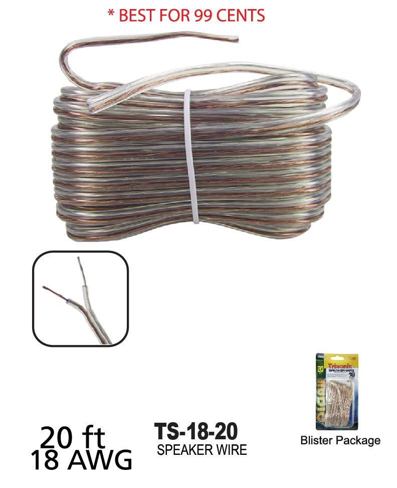 Speaker Wire 18 Gauge, 20 ft.