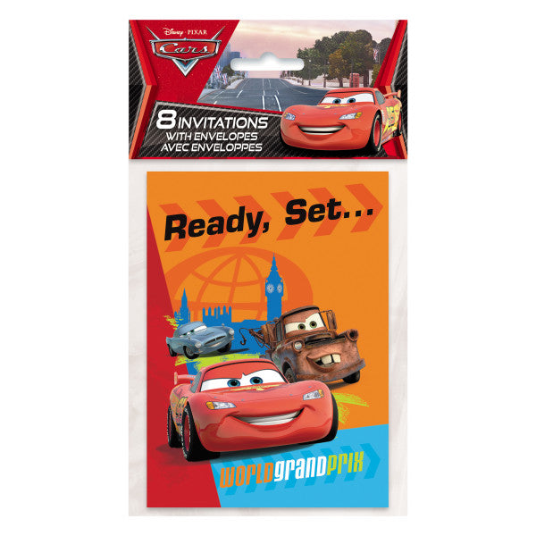 Disney Cars Grand Prix Invitations, 8ct