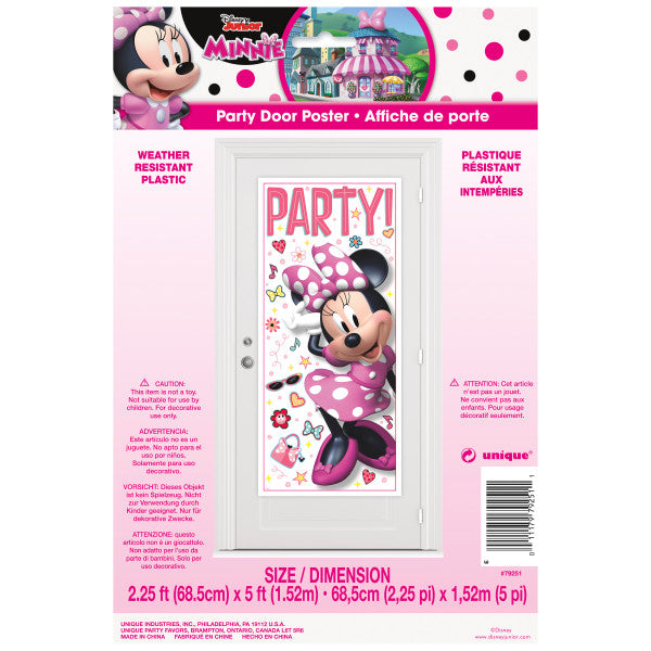 "Disney Iconic Minnie Mouse Door Poster, 27""x60"""
