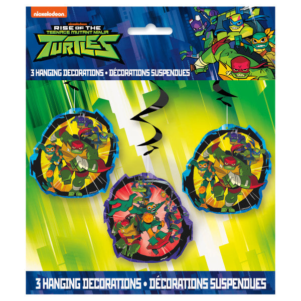 "Rise of the TMNT Hanging Swirl Decorations, 26"", 3ct"