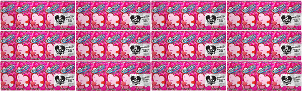 Gobstopper Heart Breakers Everlasting Candy, 5 Pack (Pack of 12)
