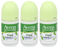 Avena Instituto Espanol Fresh Deodorant Roll On, 75ml (Pack of 3)