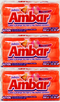 Jabon Floral Ambar Detergent Bar, 350g (Pack of 3)