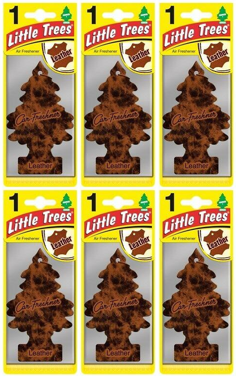 Little Trees Leather Air Freshener, 1 ct. (Pack of 6)