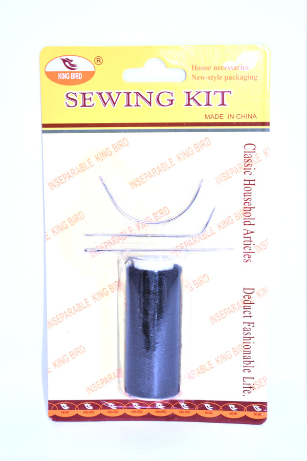 Black Thread with Curved & Straight Needles - Hand Sewing Weaving Set For Hair Extensions