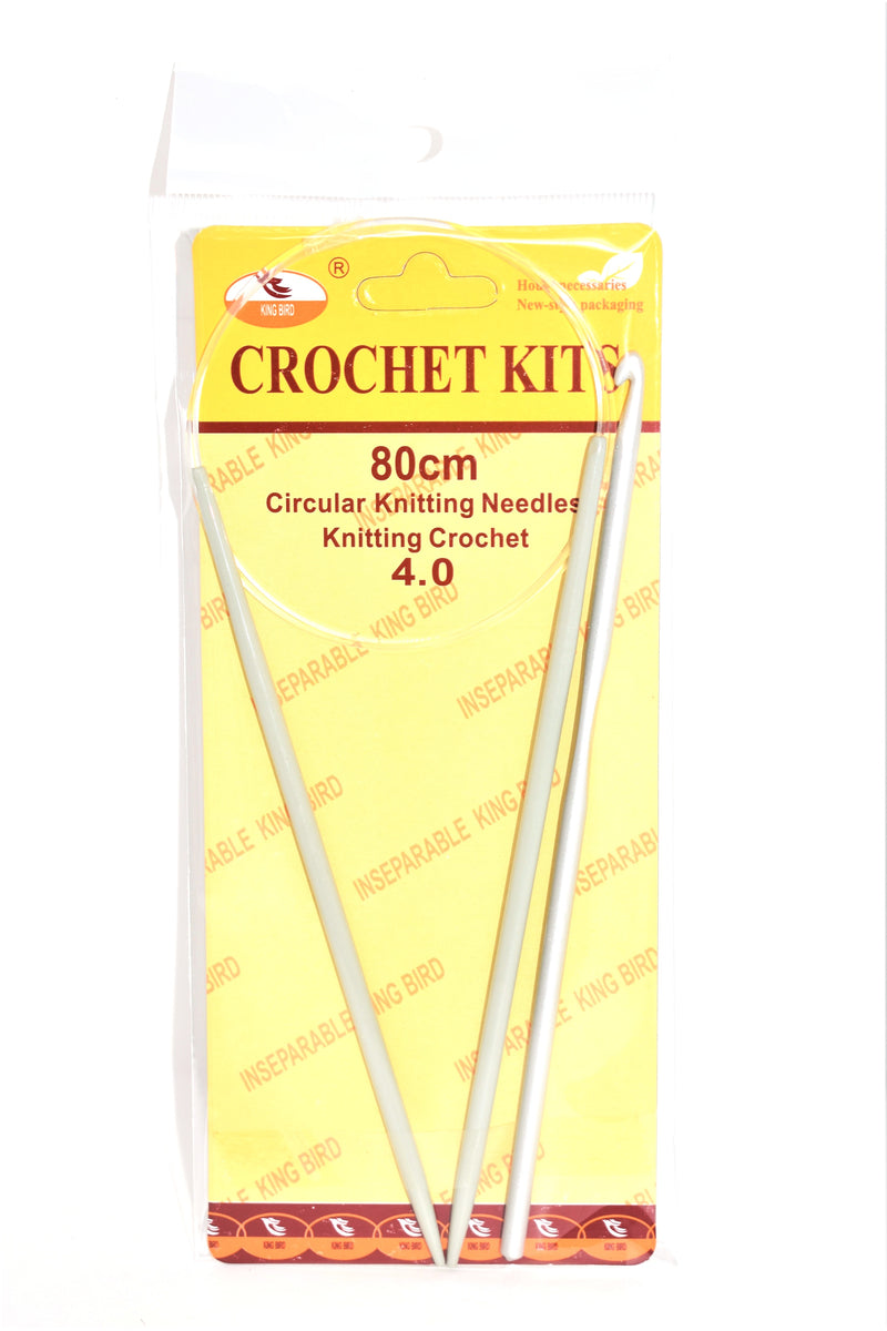 80cm Circular Knitting Needles & 4.0 Crotchet Hook