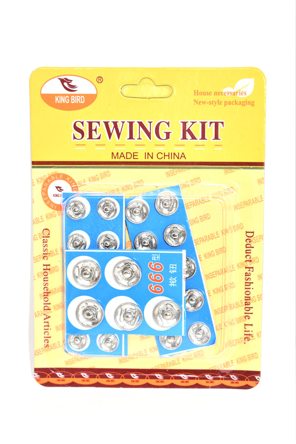Snap Fasteners Sewing Accessories - Assorted Sizes, 25-ct.