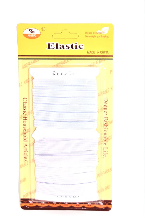 White Elastic Bands - 6mm & 10mm