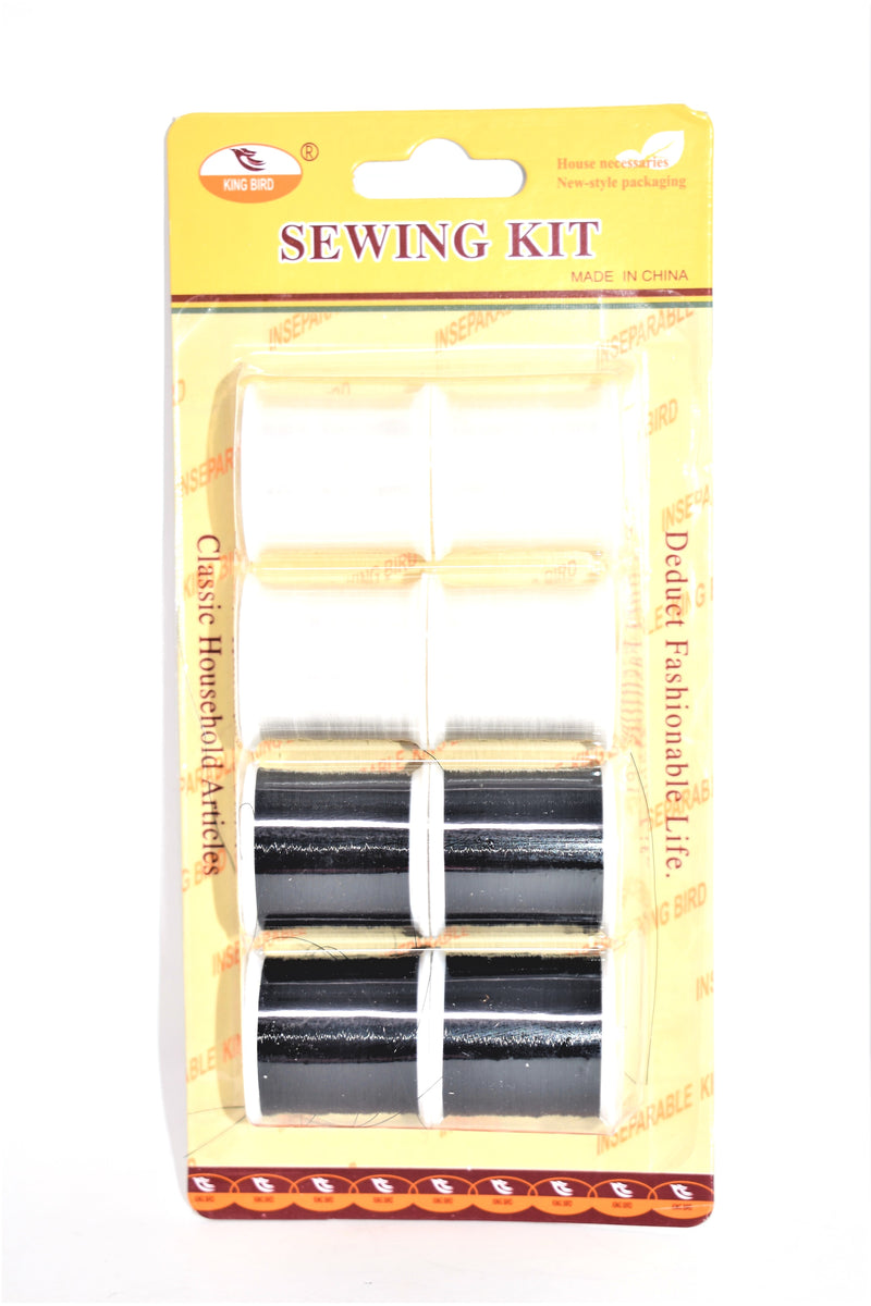 Black & White Sewing Thread Spools, 8-ct.