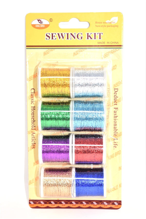 Colorful Sewing Thread Spools, 8-ct.