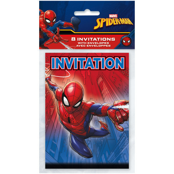 Spider-Man Invitations, 8ct