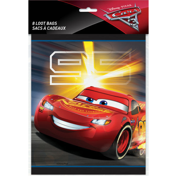 Disney Cars 3 Movie Loot Bags, 8ct