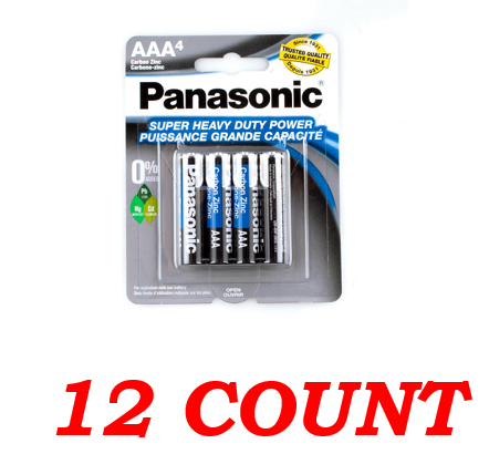 Panasonic AAA Super Heavy Duty Power Batteries, 12 ct.