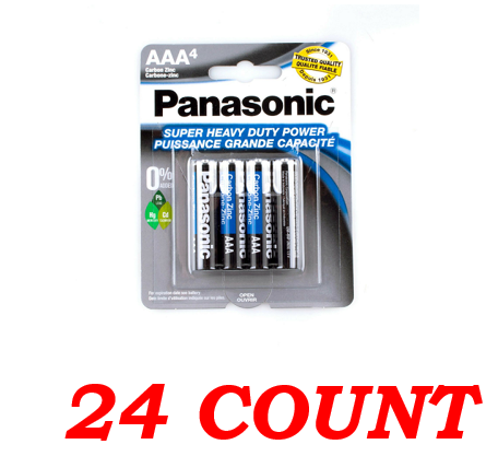 Panasonic AAA Super Heavy Duty Power Batteries, 24 ct.