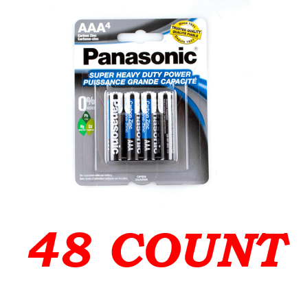 Panasonic AAA Super Heavy Duty Power Batteries, 48 ct.