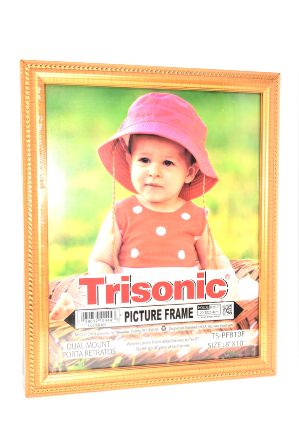 "Bronze Gold Design Picture Frame, 8"" x 10"""