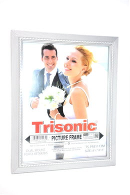Silver Designed Picture Frame, 8.5