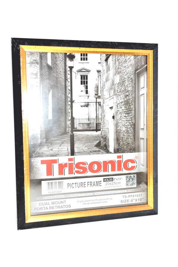 "Black Gold Trim Design Picture Frame, 8"" x 10"""