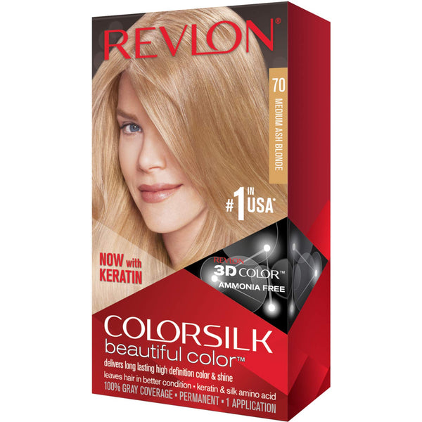 Revlon ColorSilk Beautiful Color™ Hair Color - 70 Medium Ash Blonde