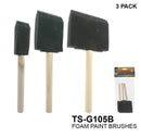 Assorted Sizes Foam Paint Brushes, 6-ct.