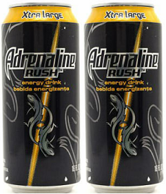 Adrenaline Rush Energy Drink, 10 oz. (Pack of 2)