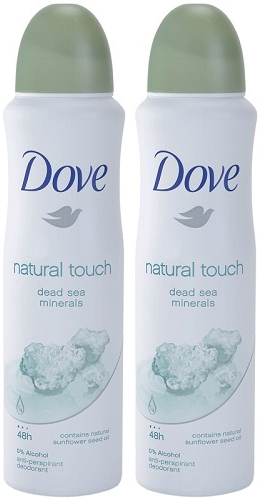 Dove Natural Touch Anti-Perspirant Body Spray, 150 ml (Pack of 2)