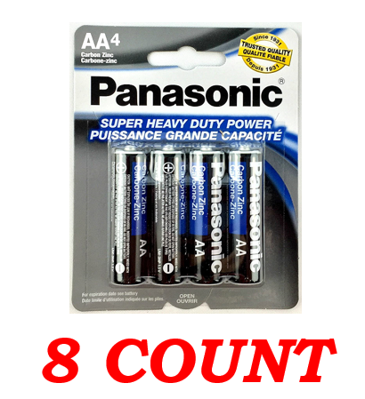 Panasonic AA Super Heavy Duty Power Batteries, 8 ct.