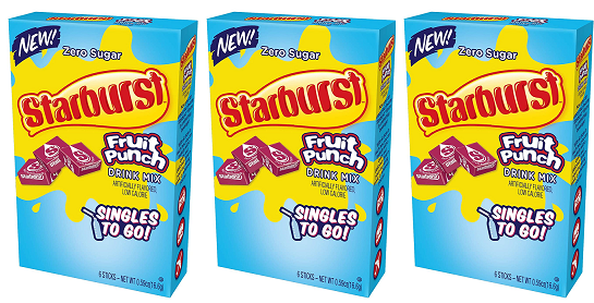 Starburst Fruit Punch Drink Mix, 0.59 oz (Pack of 3)