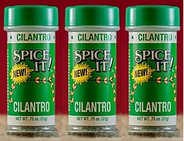 Spice It Family Size Cilantro, 0.75 oz (Pack of 3)