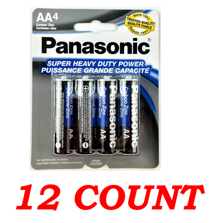 Panasonic AA Super Heavy Duty Power Batteries, 12 ct.