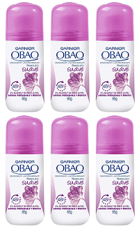 Garnier Obao for Women Soft Deodorant, 2.3 oz. (Pack of 6)