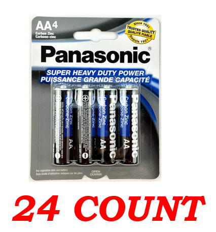 Panasonic AA Super Heavy Duty Power Batteries, 24 ct.