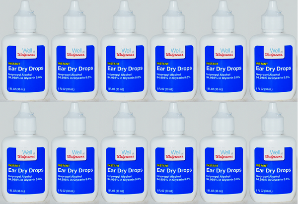 Walgreens Instant Ear Dry Drops, 1 oz (EXP 6/21) (Pack of 12)