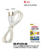 3.5mm Stereo Plug to 3.5mm Stereo Plug Cable Gold Plated, 6 ft. Aux-In