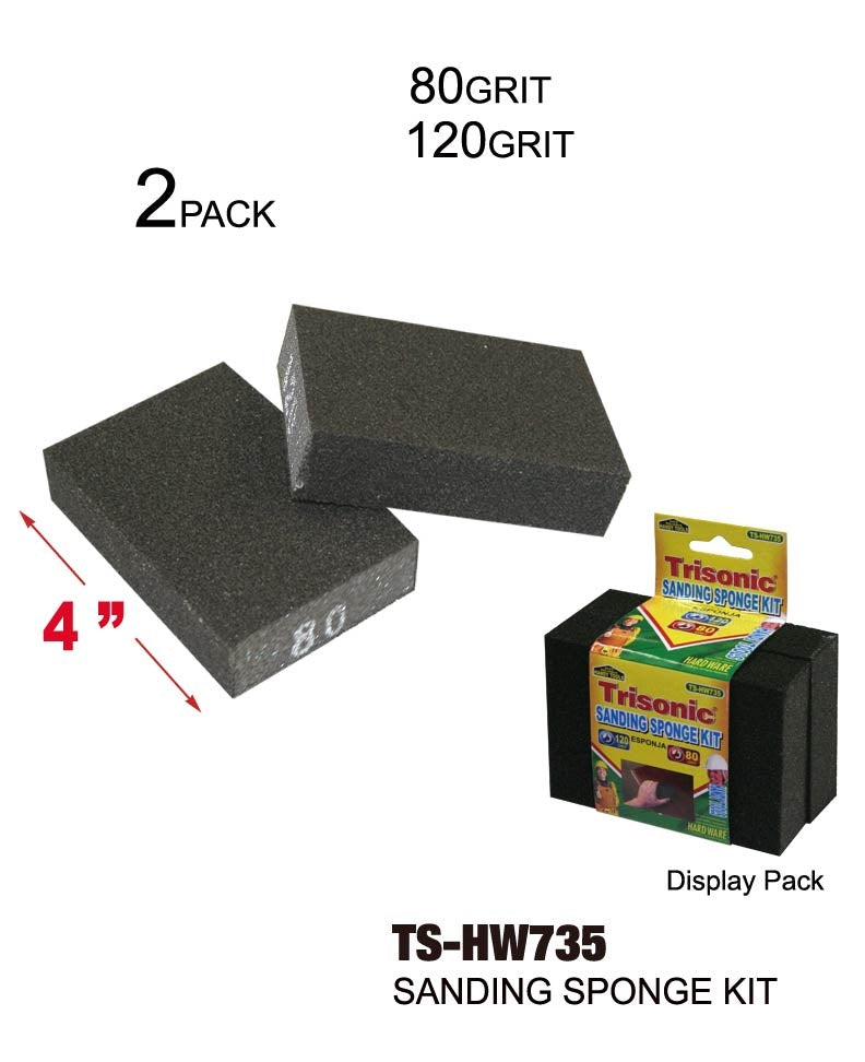 Sanding Sponge Kit, 120 Grit and 80 Grit, 2-ct.