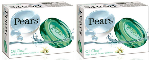 Pears Oil Clear Soap With Lemon Flower Extracts Bar Soap, 100g (Pack of 2)