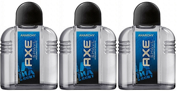 Axe Anarchy Vitalising Aftershave, 100ml (Pack of 3)