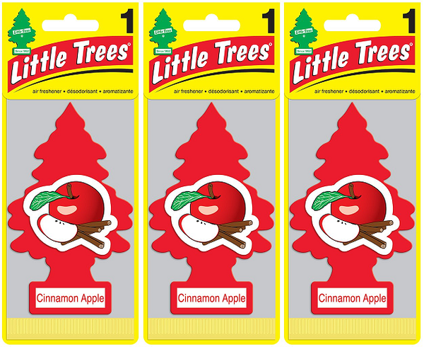 Little Trees Cinnamon Apple Air Freshener, 1 ct. (Pack of 3)