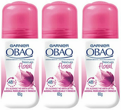 Garnier Obao for Women Floral Deodorant, 2.3 oz. (Pack of 3)
