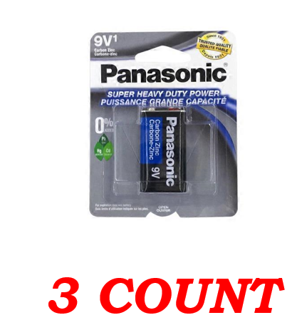 Panasonic 9V Super Heavy Duty Power Batteries, 3 ct.