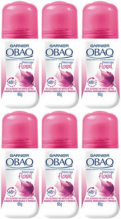 Garnier Obao for Women Floral Deodorant, 2.3 oz. (Pack of 6)