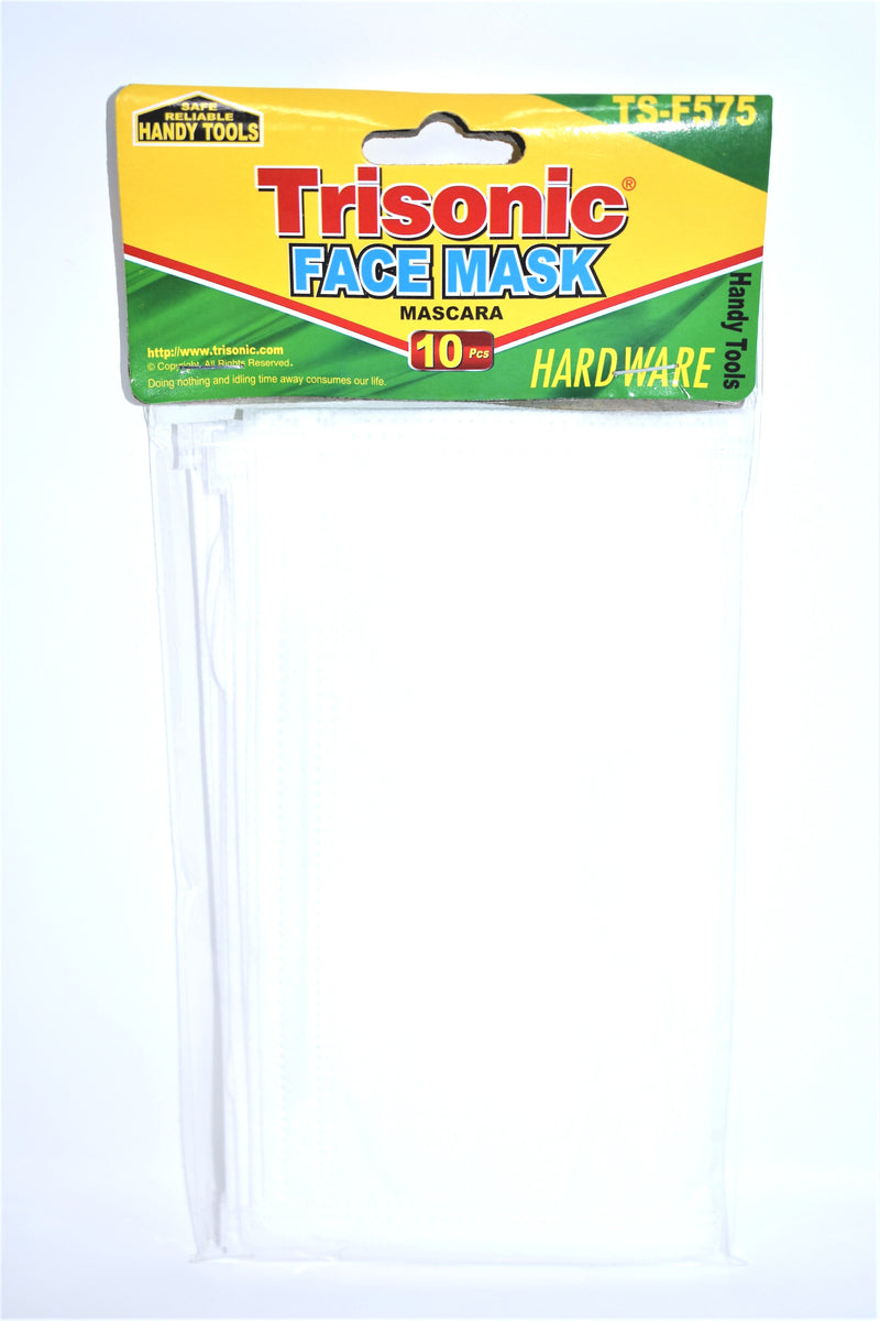 White Face Mask, 10-ct.