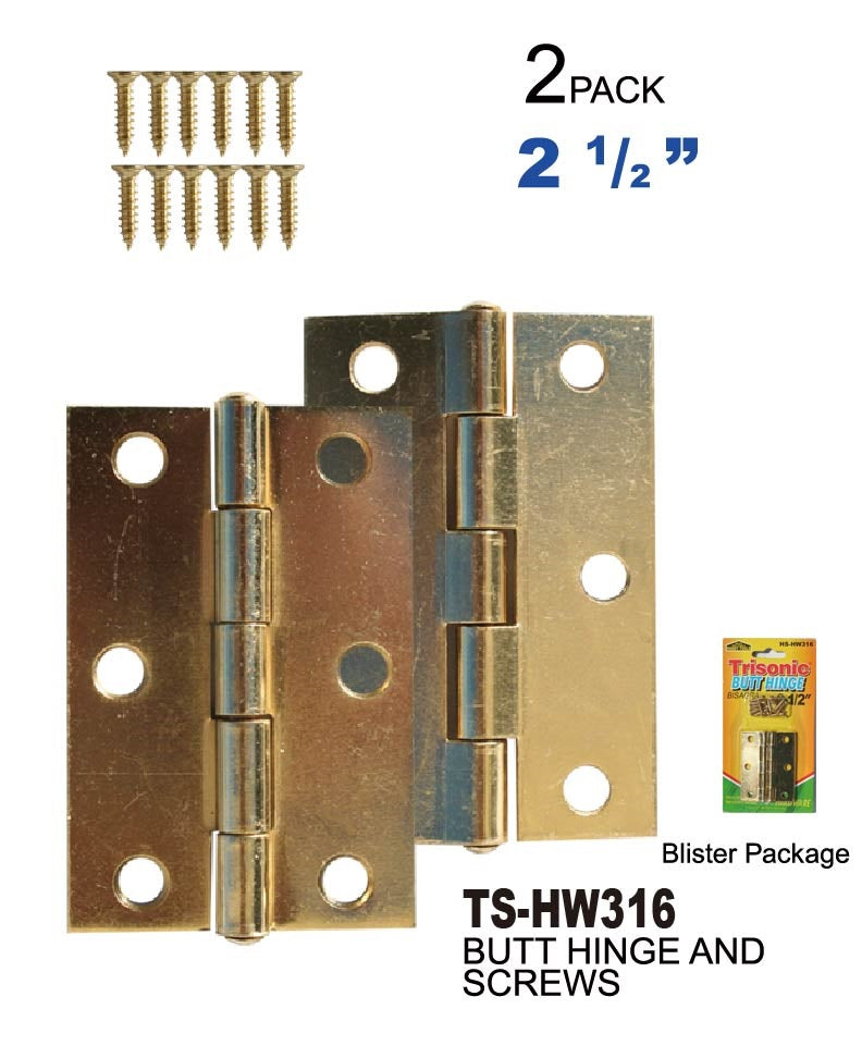"2 1/2"" Butt Hinges With Screws"