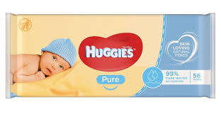 Huggies Baby Wipes Pure, 56 Wipes