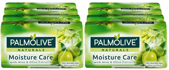 Palmolive Naturals Moisture Care Aloe & Olive, 4 ct. 360g (Pack of 2)
