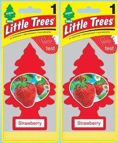 Little Trees Strawberry Air Freshener, 1 ct. (Pack of 2)