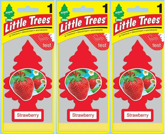 Little Trees Strawberry Air Freshener, 1 ct. (Pack of 3)